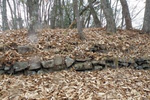 野面積の石垣跡ー天神山城ー