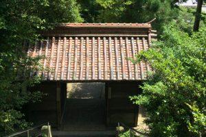 随神門の屋根ー天津神社ー