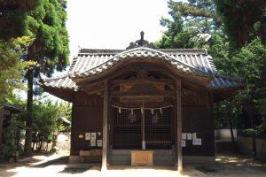 拝殿ー靭負神社ー