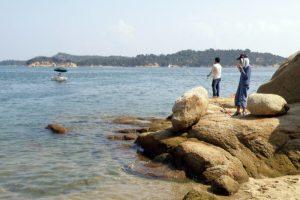 釣り風景ー日の出海岸ー