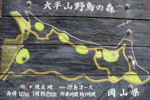 大平山野鳥の森案内板