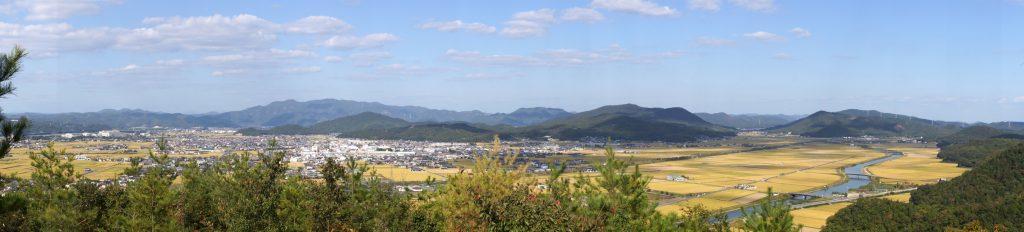 邑久町中心部から夢二の里方面ー砥石城跡よりー
