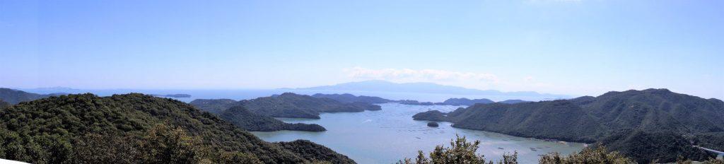 日生諸島パノラマ日生諸島ー夕立受山よりー