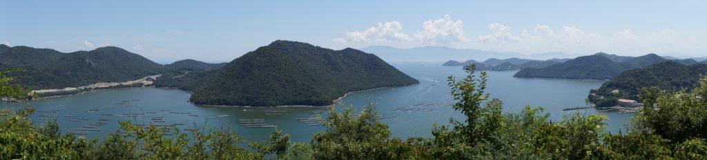 日生諸島方面パノラマーみなとのみえる丘公園よりー