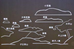 日生諸島案内図ー夕立受山よりー