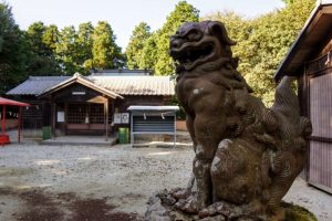 備前焼の狛犬ー熊山神社ー