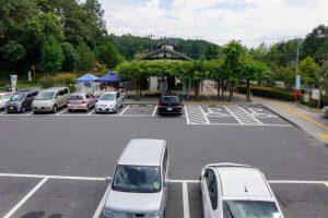 駐車場ー道の駅かもがわ円城ー