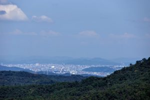 岡山市街方面ー竹林寺山山頂よりー
