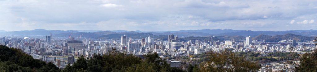 岡山市街パノラマー三勲神社跡よりー