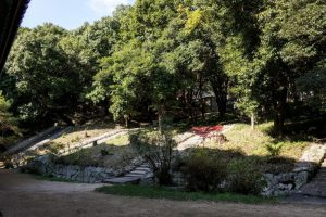 池田家墓地への石段ー曹源寺ー