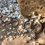 金蔵山古墳発掘現場