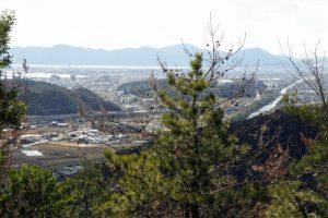 西大寺市街方面ー新庄山城跡よりー