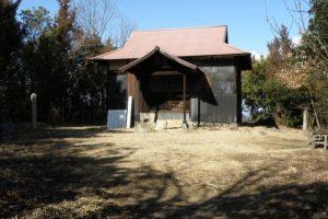 石鉄山神社拝殿ー新庄山城跡ー