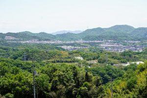 城東台団地・JR上道駅方面ー築地山常楽寺よりー