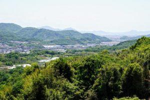 JR上道駅~百閒川方面ー築地山常楽寺よりー