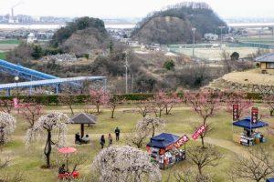 吉井川・乙子城方面ー神前神社付近よりー