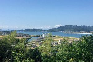 吉井川河口方面ー乙子城跡よりー