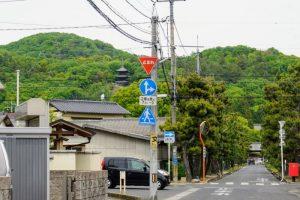 円山(左)ー曹源寺参道よりー