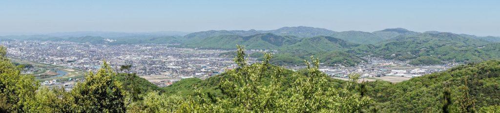 東岡山・龍ノ口山方面パノラマー芥子山山頂よりー