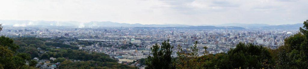 岡山市街パノラマー操山園地展望台よりー