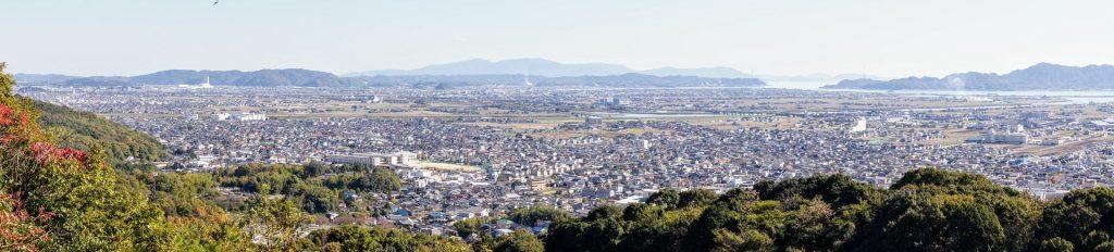 岡山平野方面