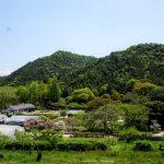 新庄山城跡方面ー三徳園よりー