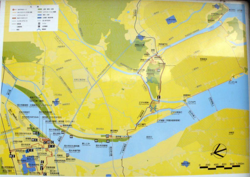 てくてくロード地図ー吉井川下流域ー