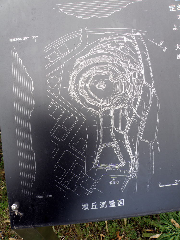 浦間茶臼山古墳墳丘測量図