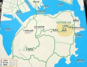 瀬戸内海国立公園東児島地区案内図