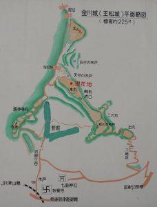 玉松城平面略図
