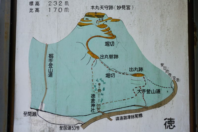 徳倉城跡案内図
