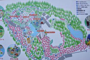 たけべの森公園案内図