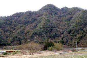 虎倉城跡ー北方よりー