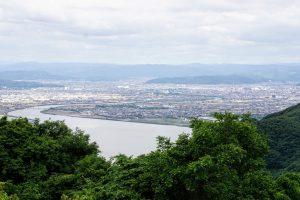 笹が瀬川河口ー金甲山よりー