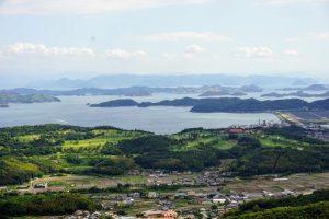 出崎海岸・直島諸島方面ー八丈岩よりー