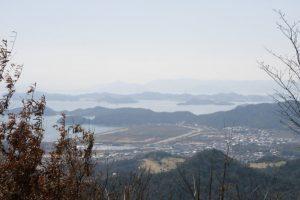 直島・出崎半島方面ー瀬戸内海国立公園貝殻山よりー