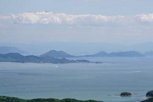 男木島・女木島方面ー八丈岩よりー