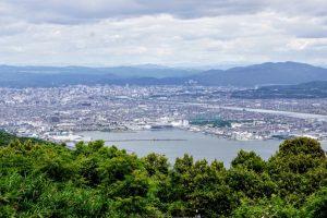 岡山市街方面ー金甲山よりー