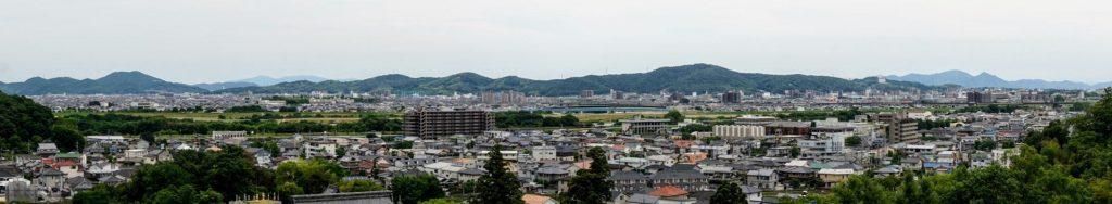 芥子山・操山方面パノラマー法界院後ろの丘陵中腹よりー