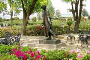 ロダン彫刻ーRSKバラ園ー