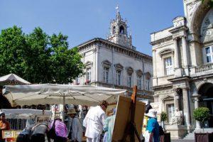 時計台広場と時計台