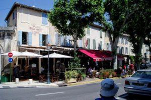 旧市街のカフェ