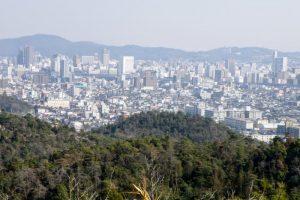 岡山市街中心部方面ー富山城跡よりー