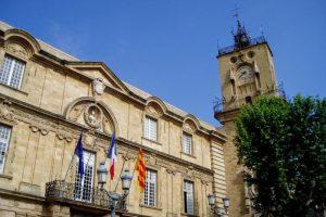 市庁舎と時計台