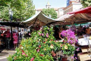 サレヤ広場の花市
