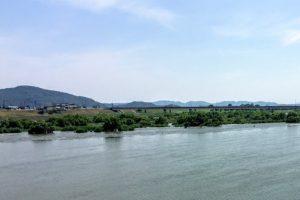 吉井川備前大橋方面ー倉安川吉井水門付近よりー