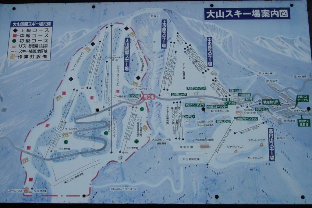 案内図ー大山ホワイトリゾートー