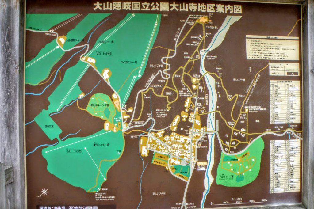 大山寺地区現地案内図