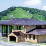 豪円山方面ー手前は中の原スキーセンターー
