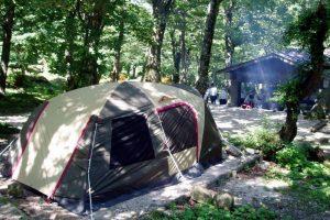 キャンプ風景ー下山キャンプ場ー